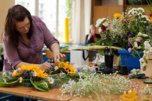 Kurs florystyki Zielona Góra - stanowisko pracy kursanta
