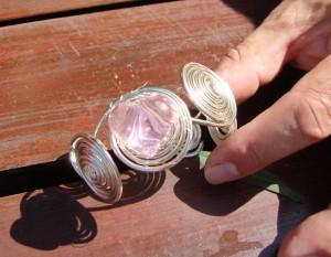 Biżuteria florystyczna z drutu