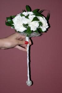Bukiet ślubny - berło białe