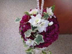 Kula ślubna różowo-biała
