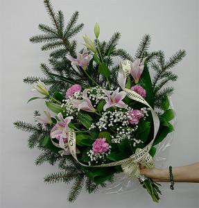 biało-różowy-bukiet-pogrzebowy