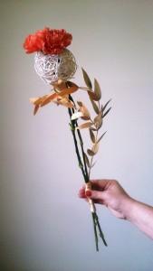 Bukiet okolicznościowy - kwiat na kuli