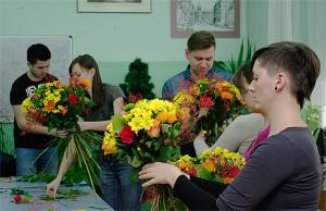 Floryści w trakcie kursu