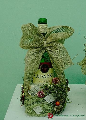 W superbly Jak ozdobić butelkę z wykorzystaniem kwiatów - ozdabianie butelek DP03
