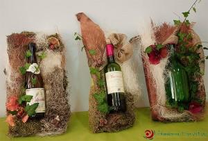 Florystyczna ozdoba butelek