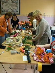 Florystyka Rzeszów - praca na kursie