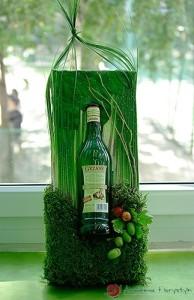 Jesienna dekoracja butelki