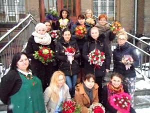 Kurs florystyczny Katowice - uczestniczki i prowadząca