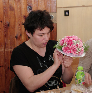 Kurs florystyczny Szczecin - bukiet na kryzie