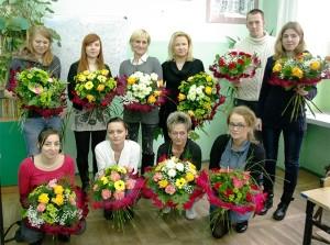 Kurs florystyczny - grupa z bukietami