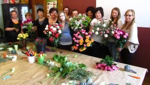 Kurs florystyczny w Katowicach - zdjęcie grupowe