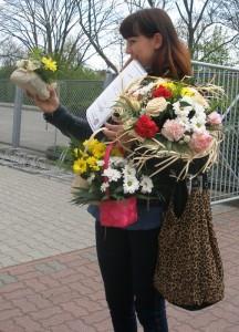 Kurs florystyczny - zadowolona uczestniczka