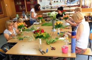 Kurs florystyki Lublin - praca na zajęciach