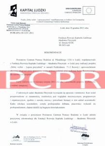 Referencje kurs florystyczny - PCPR Łódź
