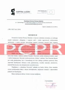 Referencje kurs florystyczny - PCPR Janów Lubelski