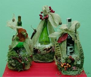 Ozdabianie butelek - florystyczna dekoracja do wina