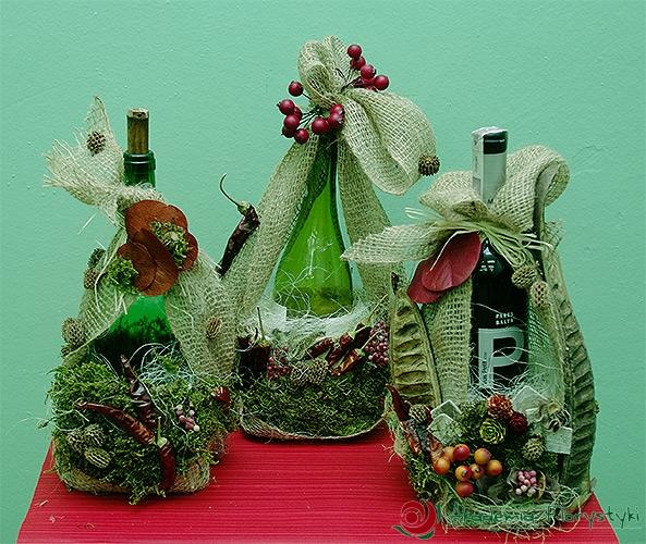 Modne ubrania Jak ozdobić butelkę z wykorzystaniem kwiatów - ozdabianie butelek CZ28