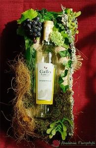 Ozdobne pakowanie butelek z winogronem
