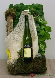 Ozdobne pakowanie butelki z winem