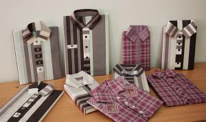 Ozdobne pakowanie prezentów - papier w kształcie koszuli