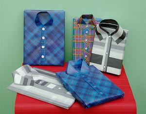 Pakowanie prezentów - papier w kształcie koszuli