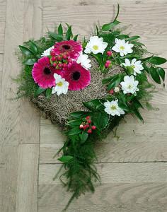 Serce na grób - florystyka żałobna