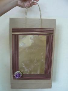 Torebka na prezent z różą