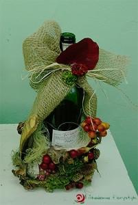 Wino w prezencie - ozdabianie butelek