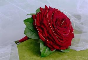 bukiet ślubny - glamelia czerwona