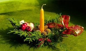świąteczny stroik na stół