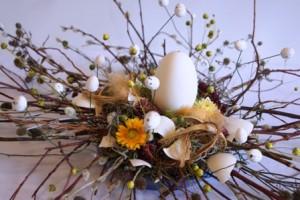 Florystyka wielkanocna - stroik