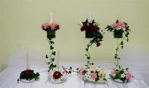 świece na salę i stół weselny
