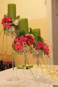 Świeczniki na stół weselny