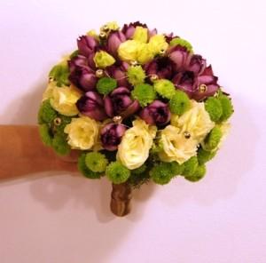 Bukiet ślubny z tulipanami