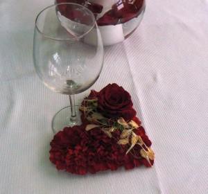 dekoracja na walentynki z sercem