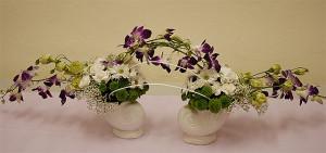 Dekoracja stołu weselnego ze stroczyków