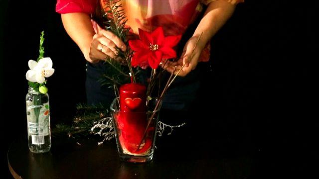 Stół w Walentynki - dekoracja