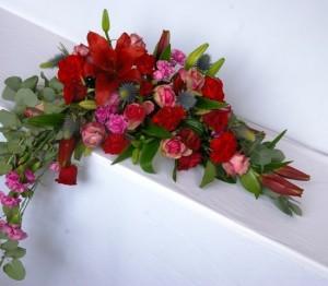 Florystyka ślubna - dekoracja na stół