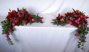 Florystyka ślubna - dekoracja stołu