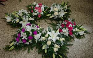 Pogrzebowe wiązanki na florecie różne