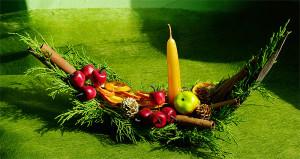 stroik świąteczny z tują