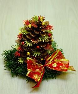 Stroiki na Boże Narodzenie - mini choinka