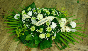 Wiązanka nagrobna zielono-biała