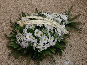 Wiązanka pogrzebowa biała