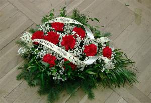 Wiązanka pogrzebowa biało-czerwona na florecie