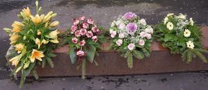 Wieńce pogrzebowe na florecie różne