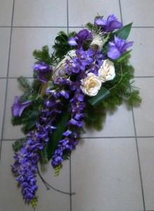 Wieniec pogrzebowy fioletowy