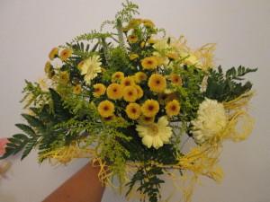 letnie bukiety - żółty bukiet okolicznościowy