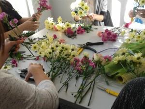 Kurs bukieciarstwa - kwiaty na kursie