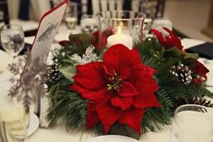 Gwiazda Betlejemska, poinsencja - stroik na bożonarodzeniowy stół